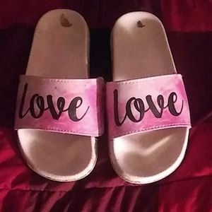 Small pink house shoes